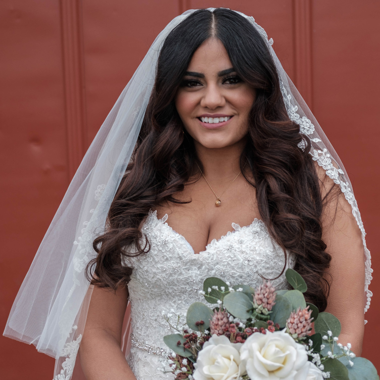 dark haired bride
