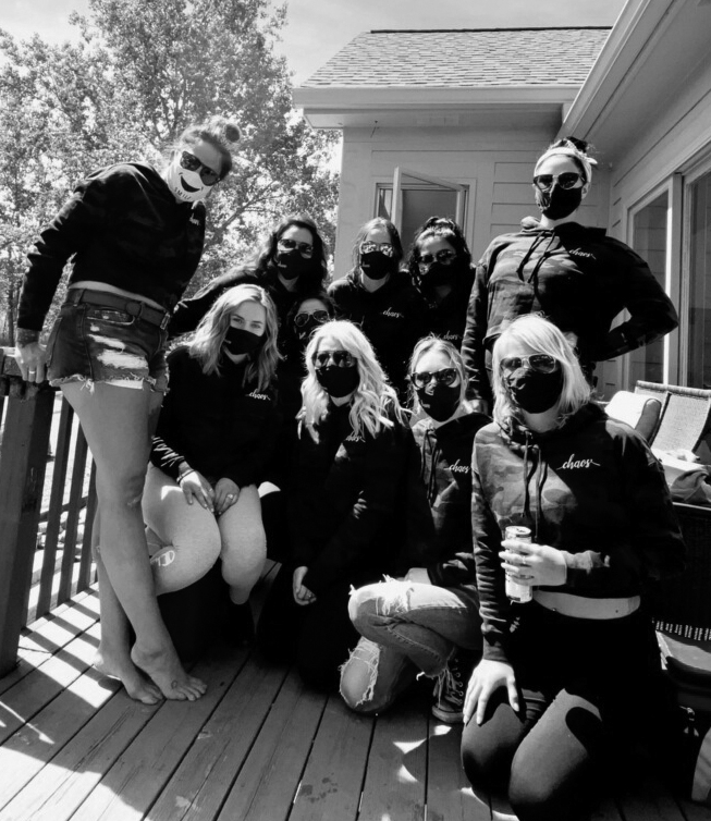 Staff picture with masks